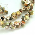 10mm Exotica Rose Shell Beads Approx 30-40 pcs.