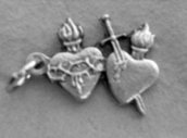 Pierced Hearts Charm/Connector M190