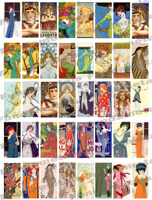 Art Nouveau Images Digital Collage Sheet