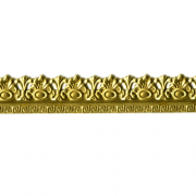 "1/2"" Flourish w/ Greek Key Brass banding 6"""
