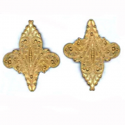 Fancy Filligree Solid, Raw Brass, PK/1