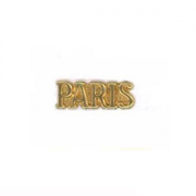 """PARIS"" Plaque, Raw Brass, PK/3"