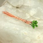 Enameled Headpins - Gecko Green
