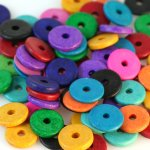BRIGHT Color Mix 100 ea 13mm washer Greek Matte Ceramic