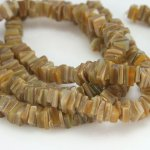 5 - 7mm Goldlip Crazycut Shell Beads approx 60-75 pcs