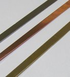 "Brass Bezel Strip, 26 gauge, 1/8"" by 12 inches"