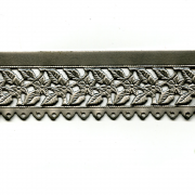 Floral/Leaves Edging with Holes Steel Banding 6""