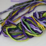 2mm Silk String Bundles Hand Dyed Pansy Bundle
