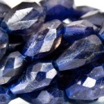 "Iolite Faceted Straight Drilled Teardrop, 7"" strand"