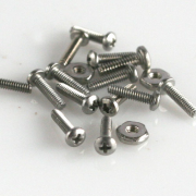 "Mini Nuts & Screws Pan Head Phillips (Stainless) 0-80 X 1/4"" 20/pk"