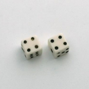 Little Dice 6mm RED 2 ea