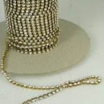 18pp Czech Crystal Rhinestone Chain FT