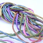 2mm Silk String Bundles Hand Dyed Mid Tone Mix 10 ea