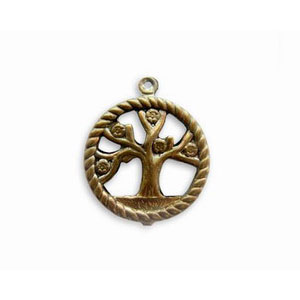 Vintaj 24 x 20mm Tree of Life Pendant P220