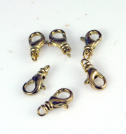 12mm Brass Curved Swivel Lobster Claw Clasp 6/pk