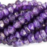 "Amethyst Faceted 4-5mm Rondelle 7-1/2"" strand"