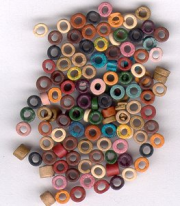 150 3-4mm tiny EARTH Color Mix Greek Matte Ceramic Washer Shaped Beads