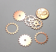 Copper Gear Mix (6 pieces), Med 19mm