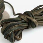 Hand Dyed Silk Cord Mixed Chocolate Silk Satin 1/4 inch
