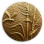 Vintaj 42mm Dragonfly Reed Brass Pendant P130