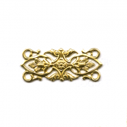 Brass Filligree Finding 2/pk
