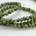 6mm Round Salwag Seed Beads, Dyed Green approx 65