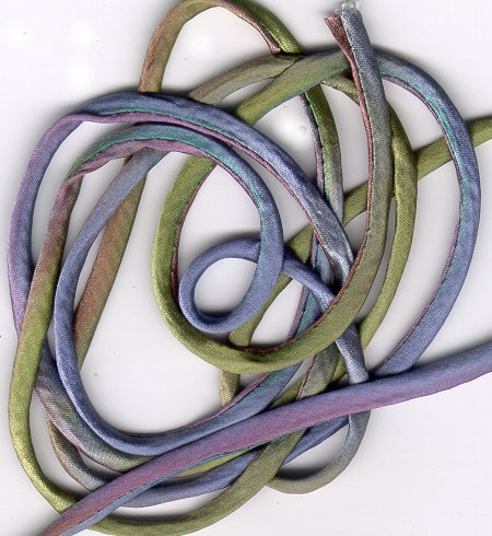 "7/16"" Hanah Silk Ribbon - Abalone - sold by the yard"